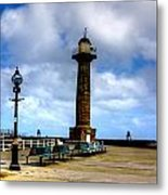 Harbour Light Whitby Metal Print