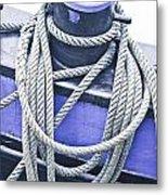Harbour Rope Metal Print