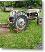 Hard Days Work Farm Tractor Metal Print