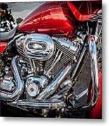 Harley Davidson Motorcycle Harley Bike Bw  Metal Print