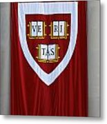 Harvard Veritas Banner Metal Print