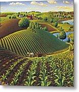 Harvest Panorama  Metal Print