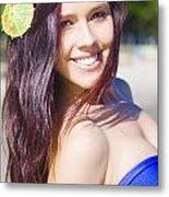 Hawaiian Girl In Hawaii Metal Print