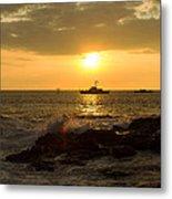 Hawaiian Waves At Sunset Metal Print