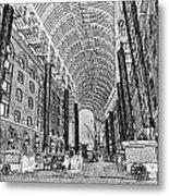 Hays Galleria London Sketch Metal Print