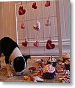 Hearts On The Line Metal Print