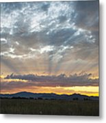 Heavenly Rays Of Light Metal Print by Dana Moyer