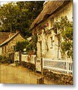 Helford Cottages Metal Print