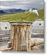 Hellisheidi Power Station Well Metal Print