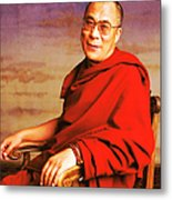 H.h. Dalai Lama Metal Print by Jan W Faul