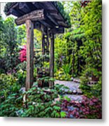 Hidden Garden Well Metal Print