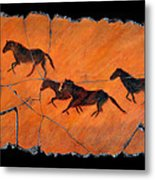 High Desert Horses Metal Print