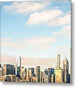 High Resolution Large Photo Of Chicago Skyline Metal Print