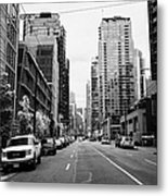 high rise apartment condo blocks in the west end west pender street Vancouver BC Canada Metal Print