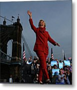 Hillary Clinton Campaigns In Ohio Ahead Metal Print