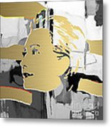 Hillary Clinton Gold Series Metal Print by Marvin Blaine