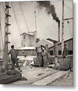 Hine Oyster Fishing, 1911 Metal Print