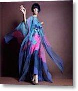 Hiroko Matsumoto Wearing Print Dress Metal Print