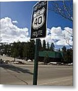 Historic Route Us 40 Sign Metal Print