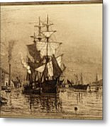 Historic Seaport Schooner Metal Print