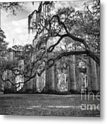 Historic Sheldon Church 4 Bw Metal Print