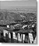 Hollywood And The Los Angeles City Skyline Metal Print
