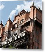 Hollywood Tower Metal Print