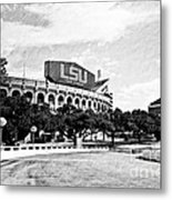 Home Field Advantage - Bw Texture Metal Print