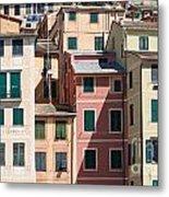 homes in Camogli Metal Print