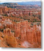 Hoodoo Rock Formations In A Canyon Metal Print