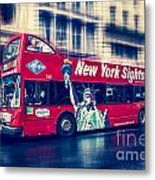 hop on hop off  through NYC Metal Print
