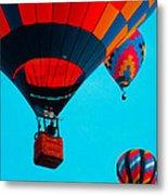 Hot Air Balloon Flight Metal Print