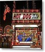 Hot Dog On A Stick Metal Print