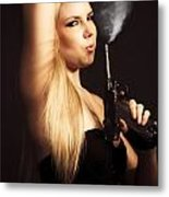 Hot Shot Woman Metal Print