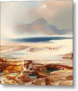 Hot Springs Of Yellowstone Metal Print