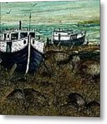 House Boats Metal Print