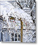 House Under Snow Metal Print by Elena Elisseeva