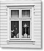 Houses And Windows Metal Print