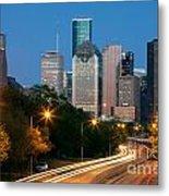 Houston Skyline At Dusk Metal Print