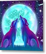 Howling Together Metal Print