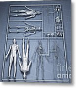 Human Cloning Metal Print