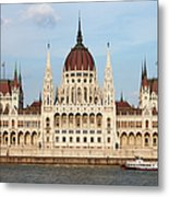 Hungarian Parliament Building In Budapest Metal Print