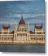 Hungarian Parliament Building Afternoon Metal Print
