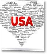I Love Usa Metal Print
