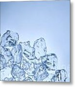 Ice Background With Copyspace Metal Print