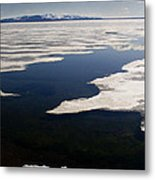 Ice On Yellowstone Lake Metal Print