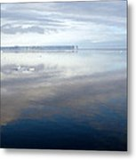 Iceberg And Polinya In The Ross Sea  Metal Print