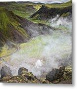 Iceland Steam Valley Metal Print