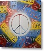 Imagine Peace Metal Print