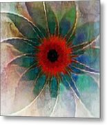 In Glass Metal Print